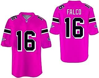 borizcustoms Shane Falco 16 Washington Sentinels Home Football Jersey Replacements Includes League Stitch Royal Pink Black