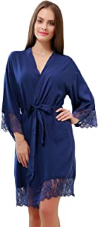 Image of Beautiful Soft Lace Trimmed Robe for Women - See More Colors