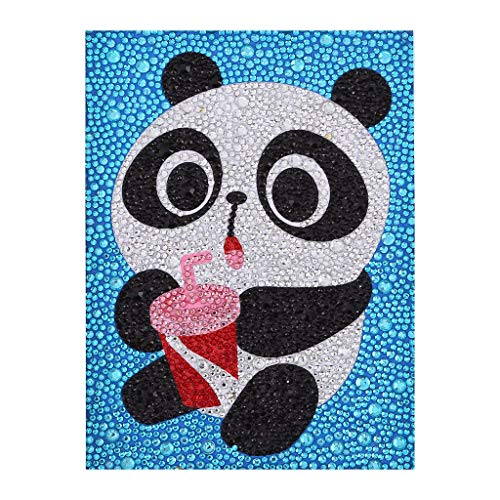 Panda EEZYCHOIC 5D Diamond Painting Kits for Kids Full Drill Painting by Number Kits DIY Mosaic Making Arts Crafts Supplies for Childrens Gifts
