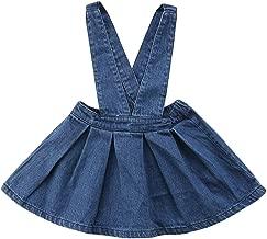 CM C&M WODRO Toddler Baby Girls Strap Suspender Skirt Overalls Dress Outfit