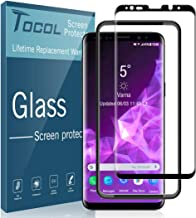 TOCOL for Samsung Galaxy S9 Plus Screen Protector, Tempered Glass 3D Curved Full Coverage (Easy Installation Tray) (Not for Galaxy S9)