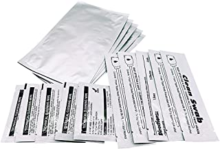 UltraClean Cleaning Kit for Card Readers and Most ID Card Printers, Pack of 5 CR80 Cleaning Cards and 5 Swabs and 10 Wipes CK-A5021 White