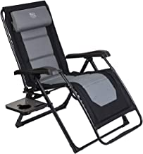 Timber Ridge Zero Gravity Locking Lounge Chair Oversize XL Adjustable Recliner with Headrest for Outdoor Beach Patio Pool Support 350lbs, Black