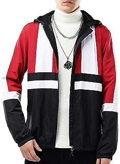 USHARESPORTS Jackets for Men Windbreaker Men Rain Waterproof Coats Lightweight Puffer Coat Workout Clothing With Hood