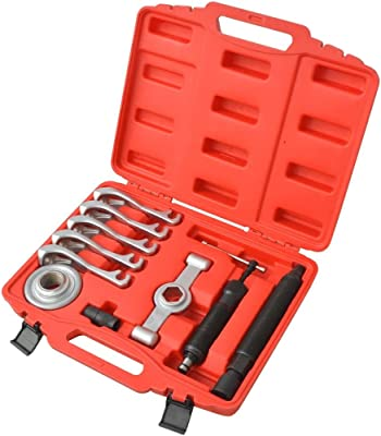 SKB family 11 Piece Two-Way Hydraulic Gear Puller Set Steel, S45C Steel