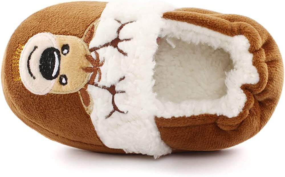 MK MATT KEELY Winter Slippers for Girls Cartoon Animal Slippers Toddler Warm Plush House Shoes Little Kids Home Slippers