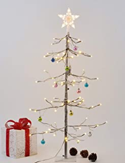 LIGHTSHARE 3 Feet 72L LED Fir Snow Tree,Home/Festival/Party/Christmas,Indoor and Outdoor Use,Warm White