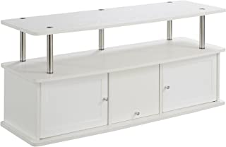 Convenience Concepts Designs2Go TV Stand with 3 Cabinets, White