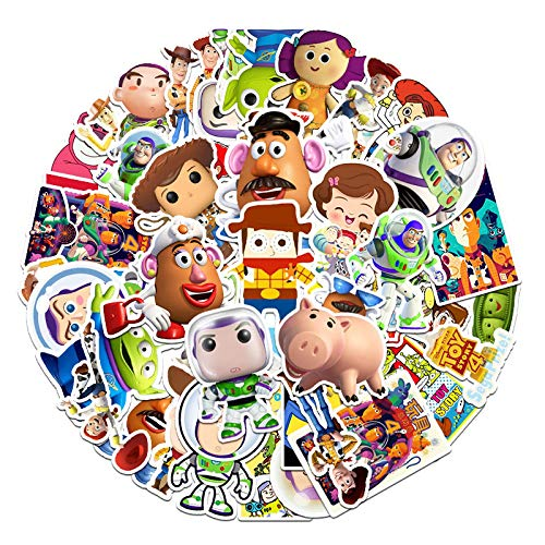 YLGG 53 pieces Toy Story waterproof graffiti stickers for laptops, skateboards, suitcases, helmets, mobile phones, motorcycles,etc