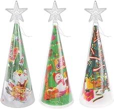 KESYOO 3pcs Christmas Tree Night Light Mini 3D Tabletop Luminous Christmas Tree Lamp Xmas Holiday Office Home Decor(Random...