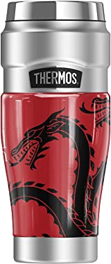 Game of Thrones Houses Fire Cannot Kill A Dragon THERMOS STAINLESS KING Stainless Steel Travel Tumbler, Vacuum insulated &amp