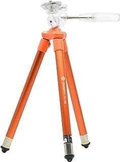 Fotopro 小型三脚 FZ-158 オレンジ 8段 2WAY雲台 軽量 アルミ製 817686
