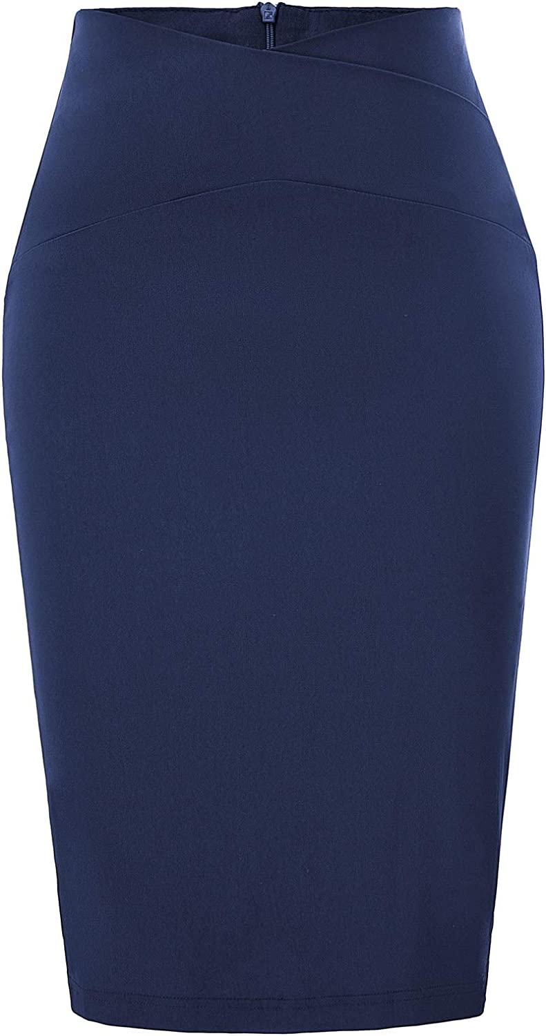 GRACE KARIN Women's Slime Fit Business Office Pencil Skirts Wear to Work