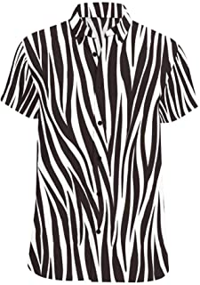 zebra print button up shirts