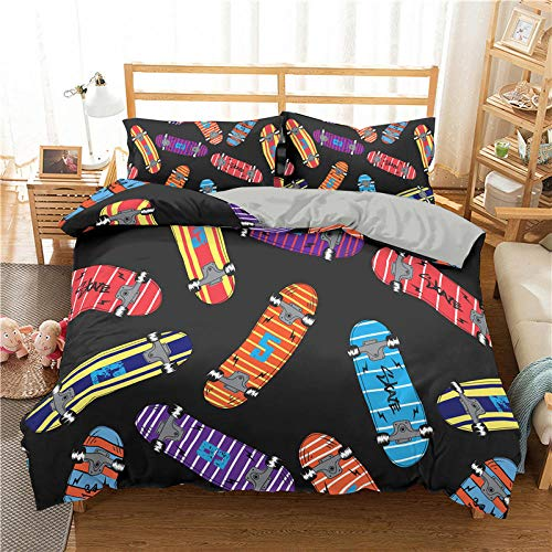 Bedclothes-Blanket Juego sabanas de Cama 150,Cubierta de la Colcha de impresión 3D de la Scooter de Cama de Tres Piezas-4_228 * 228cm