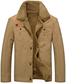 Heyean Men Jackets Coats Thicken Long Sleeve Casual Warm Breathable for Autumn Winter New