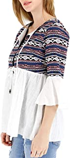 Grace and Lace 3/4 Bell Sleeve Cotton Boxy Summer Jacket
