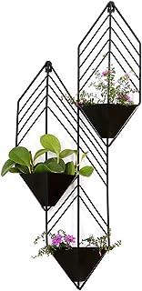 Soporte de la flor Soporte de la planta Maceta de macetero Estante de exhibición Bodegas Soporte de madera de la planta Personalidad Pared Estante de la flor Sala Decoración de la pared-A