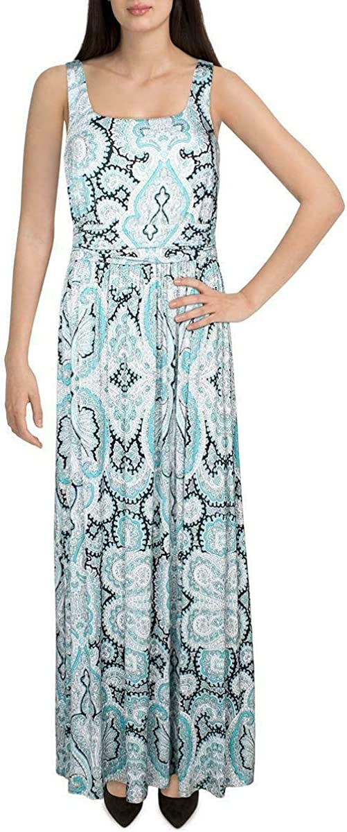 INC Womens Ruched Printed Cocktail Dress Blue XL