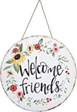 Brownlow Gifts Door and Wall Hanging Sign, 18-Inches, Welcome Friends