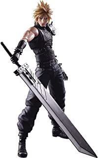 Final Fantasy Cloud Strife Play Arts Kai Action Figure - Claude Action Figure - Equipped with Weapons and Replaceable Hands - High 27CM
