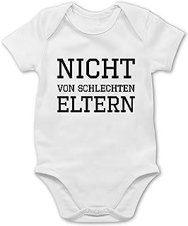 Shirtracer Sprüche Baby - Nicht von schlechten Eltern - Baby Body Kurzarm für Jungen und Mädchen