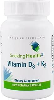 Seeking Health Vitamin D3 + K2 | 60 Capsule | Vitamin K2 Supplement | Vitamin D3 Supplement