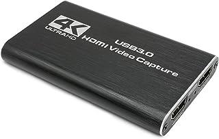 キャプチャーボードSwitch ゲームキャプチャー ビデオキャプチャー、4K 60HZ HDMIパススルー、HDMI キャプボ、1080P 60Hz USB3.0 キャプチャボード、ゲーム録画/実況/配信/ライブ会議用、PS5/PS4/Xbo...