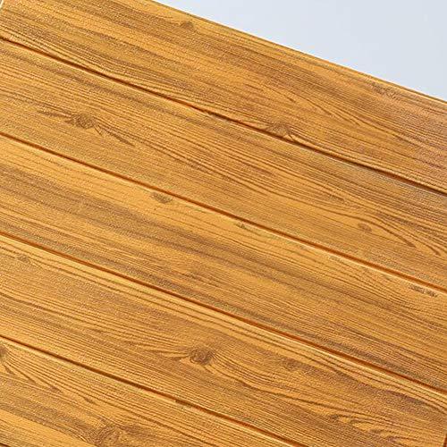 GE&YOBBY Faux houten wandpanelen, schil en stok schuim houten lambrisering 3D-wandpanelen voor nep hout muur 3D hout behang zelfklevende hout look wandpanelen