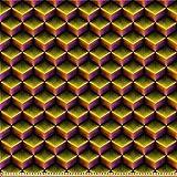 ABAKUHAUS Gitter Microfaser Stoff als Meterware, 3D-Würfel