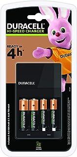 Duracell CEF14-batterijlader voor 4 uur, incl. oplaadbare batterijen, 2 AA + 2 AAA