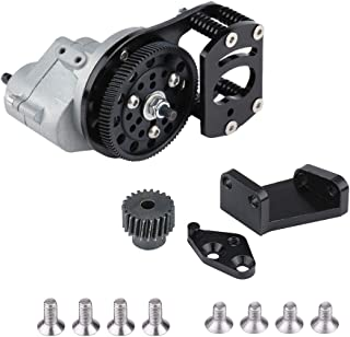 Zouminy CJG006 Metal Transmission Gearbox Motor Gear and Mount Holder for SCX10 RC-4WD D90 1/10 Crawler