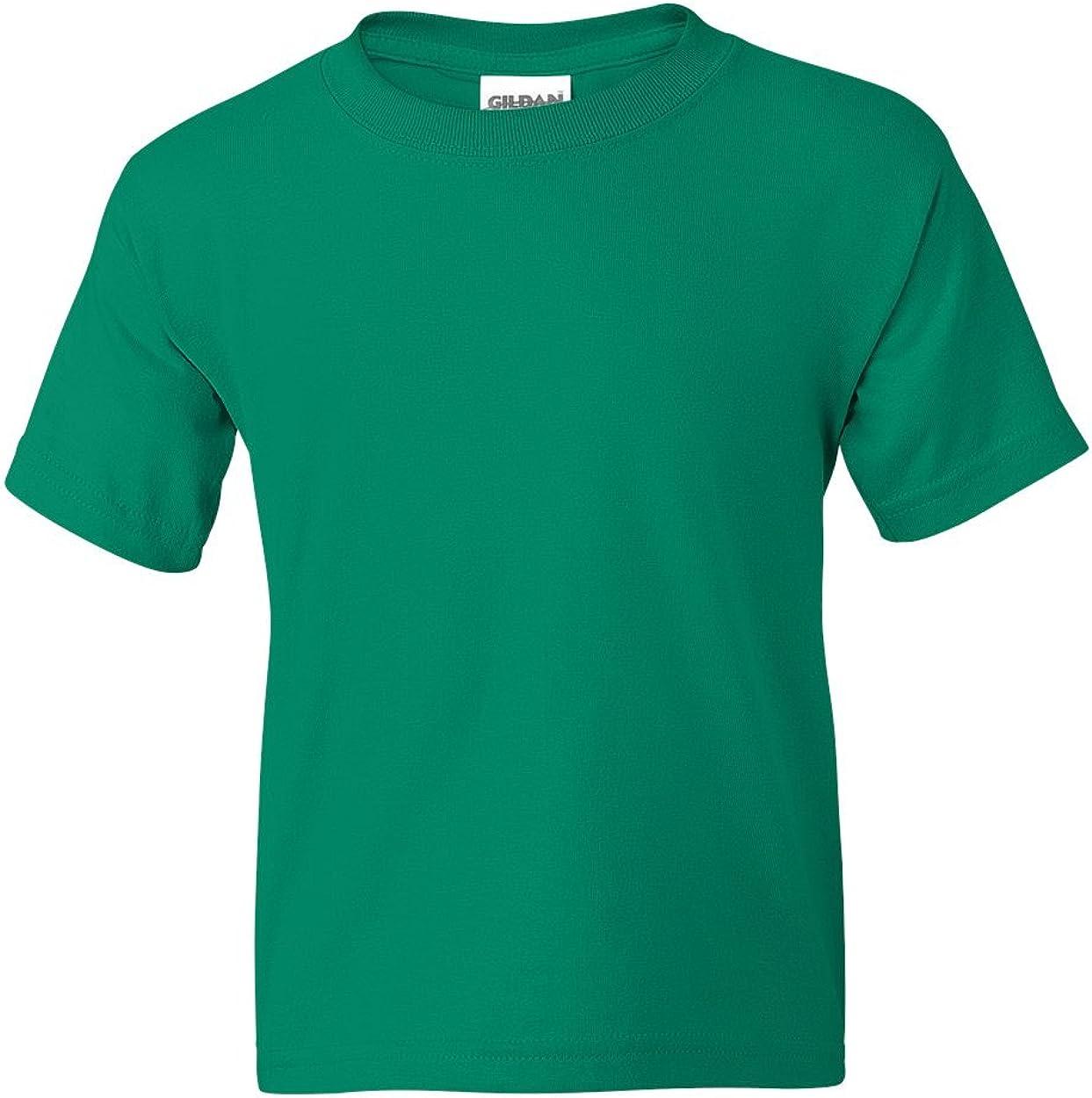 Gildan Activewear 50/50 Ultra Blend Youth Tee Shirt, L, Kelly Green