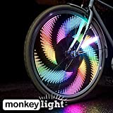 Monkey Light M232 Bike Wheel Lights: Great Tire Spoke Light Safety Accessory Full Color 32 LED Waterproof Built to Last AA Battery Assembled in USA for Front and Back visible for Crusiers and Fixie