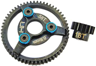 Hot Racing Ste258 Steel Pinion and Spur Gear Kit, 18/58 Tooth 32 Pitch (0.8Mod)