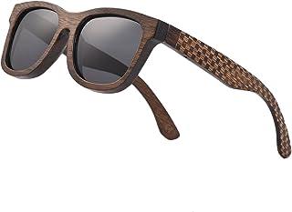 Bamboo Wood Polarized Sunglasses For Men & Women -Temple...