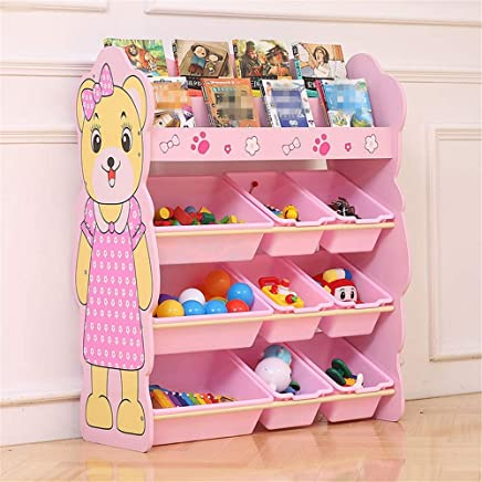 KANGJIABAOBAO Toy Storage Box Book And Toy Organizer For Organizing Toy Storage Baby Toys Kids Toys Dog Toys Baby Clothing Children Books For Kids Childrens Toy Box  Color Pink  Size Free size