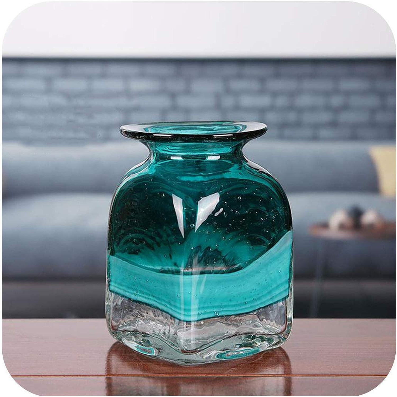 Margot-Charismatic-Shop vases en Verre Moderne pour Salon ou Table de décoration de Maison Motif Fleurs