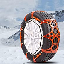 Car Snow Chain car SUV Snow Emergency tire Snow Chains Easy to Install (Size : 22555R17)