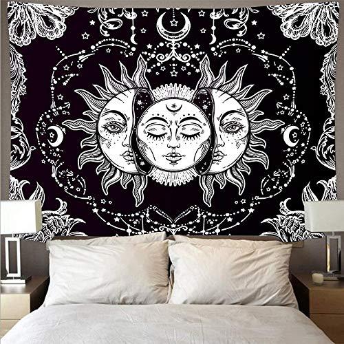 Flores y huesos elegante hippie psicodélico arte de la pared dormitorio dormitorio sala de estar decoración tapiz tela de fondo a9 150x200cm