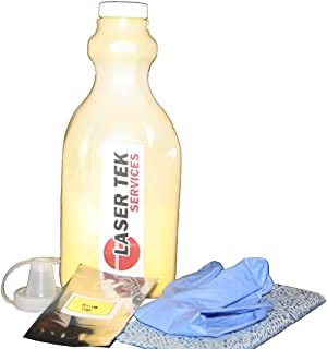 Laser Tek Services ® Yellow Toner Refill Kit with reset chips for the Ricoh C3500 C4500 888605