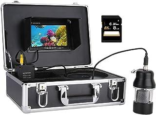 Fish Finders Grabadora DVR de 7 Pulgadas Buscador de Peces, 20pcs LED Blancos + 18pcs lámparas LED infrarrojas Cámara de V...