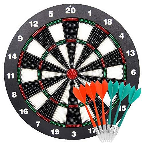 limiwulw veiligheid dartboard voor kinderen–16-inch-rubber dartboard set met 6Soft dart sicherheitsabnähe