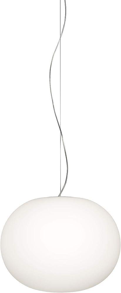 """Flos, lampada """"glo-ball"""", s1 eu/sa bco, vetro acciaio F3005061"""