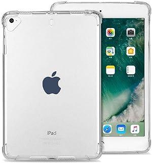 لجهاز Apple iPad (9.7 بوصة، طراز 2018/2017) وiPad Air 1 وiPad Air 2 وiPad Pro 9.7 بوصات جراب شفاف مضاد للصدمات بزوايا مستديرة