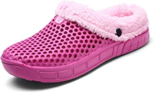 Sunny Holiday Winter Mules Clogs Slippers Men Women Lightweight - Men's Indoor Garden Shoes Women's Warm Fur Lined House Shoes