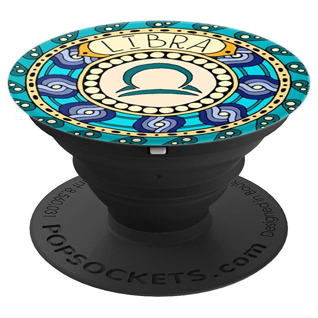 Libra Zodiac Sign Socket Colorful Birth Energy Circle - PopSockets Grip and Stand for Phones and Tablets
