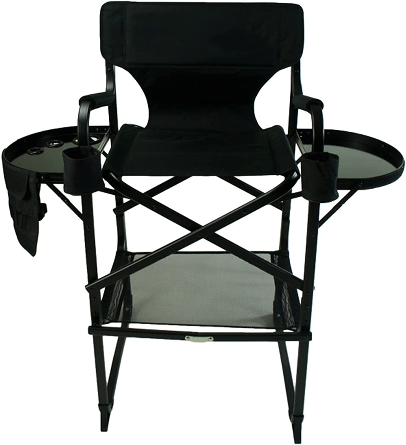 Tall Director Chair with Side Table and Special Campaign Max 76% OFF A Brush Bag Makeup