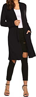 Best long black cardigan jacket Reviews
