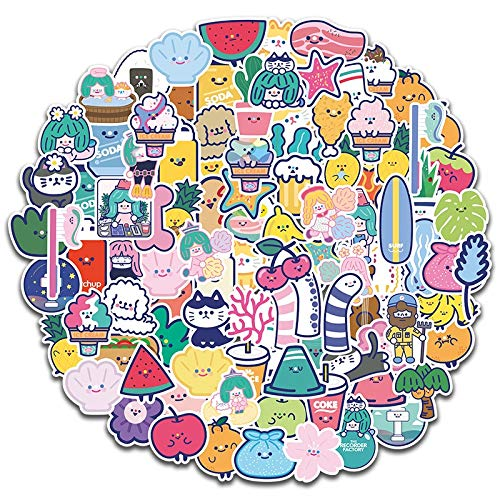 HENJIA Small Fresh Stickers For Suitcase Skateboard Laptop Luggage Fridge Phone Car Styling Diy Decal Sticker 100Pcs